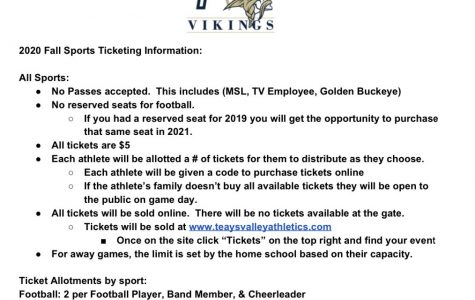 Athletic Department Announces Online Tickets
